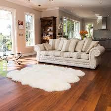 large to 6 pelt sheepskin rugs ivory white color