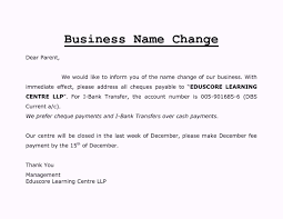 Company Name Change Letter Format Of Impression Gallery Babrk
