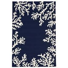 capri c border in outdoor rug blue