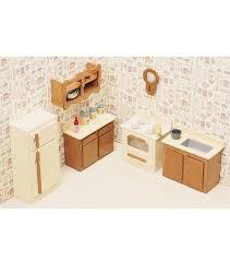 Greenleaf Dollhouse Furniture Kitchen Set JOANN