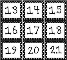 Calendar Pocket Chart Set Black White Polka Dot Pocket Chart Or Wall Calendar Set