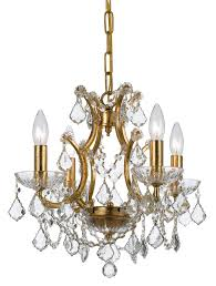 crystorama ore 4 light crystal gold mini chandelier