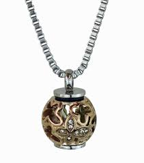 details about rose gold filigree urn pendant necklace fur hair large capacity cremation ash
