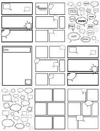 Superhero Template Creator Comic Strip Template Free Blank Frames For Students