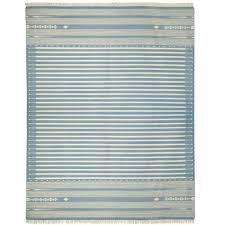 sanskrit striped cotton dhurrie rug large