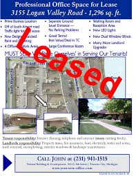 office space for lease flyer 3155 logan valley rd traverse city michigan commercial office for