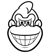 Donkey Kong Coloring Pages Books 100 Free And Printable