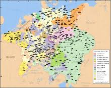thirty years war  central europe at the end of the thirty years war showing the fragmentation that resulted in decentralization