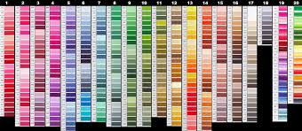 The free printable color charts listed below can help you find find html color codes for your website easily. Free Dmc Color Chart Lord Libidan