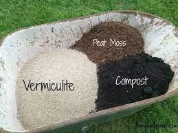 raised garden beds soil mixing in