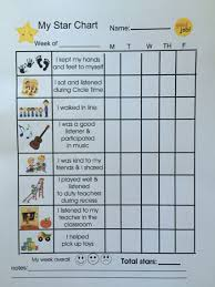 Toddler Positive Behavior Star Chart Preschool Behavior