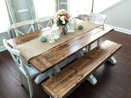 dining table farm style dining room table with bench