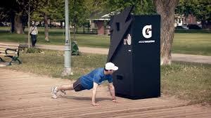 Gatorade Vending Machine Inspiration Sweat It To Get It Strategy