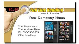 Card Vending Machine Magnificent Vending Machine Business Cards Full Color Snack Soda Route