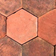 reclaimed handmade hexagonal terracotta tiles hexagon tile antique