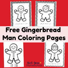 Gingerbread Man Coloring Pages Rock Your Homeschool