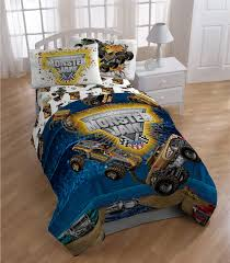 monster jam destruction 5 piece bed in a bag with