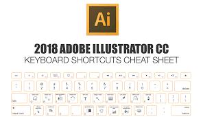 2018 Adobe Illustrator Keyboard Shortcuts Cheat Sheet Make