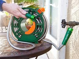 100 ft garden hose. hercules 100 ft super tough stainless steel garden hose by bulbhead lightweight won\u0027t tangle ft