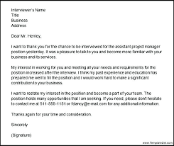 Interview Thank You Letter Email Thank You Letter After Phone