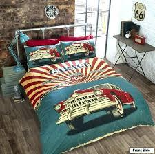 race car crib bedding set vintage