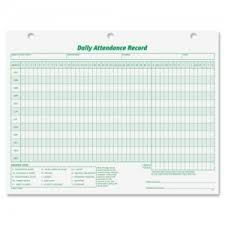 Tops Daily Attendance Record Form 3284 Top3284