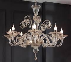 clear glass modern murano chandelier s1199l8