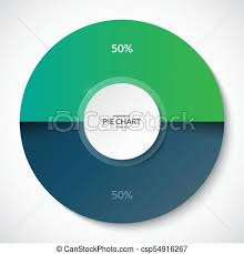 50 Percent Pie Chart Pie Chart Share Of 50 Percent Can Be Used For Business Infographics