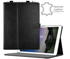 cuvr genuine leather case for ipad pro 10 5 with pencil holder