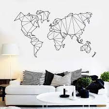 Atlas World <b>Map Wall Sticker</b> Creative Living Room Decoration ...