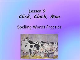 Words With Moo Click Clack Moo Spelling