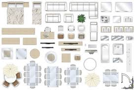 Clip Art Vector Of Vector Furniture Architect Plan Of Building Set Furniture Clipart For Floor Plans
