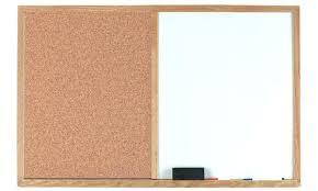 White Cork Board Dry Erase Cork Board Combo Bulletin W Chalk Or Marker  Surface Home Improvement