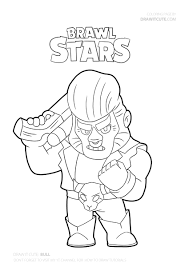 Brawl stars coloring pages 50. How To Draw Bull Super Easy Brawl Stars Drawing Tutorial With Coloring Page Draw It Cute