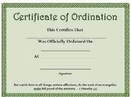 blank ordination certificates free printable certificate certificate of ordination