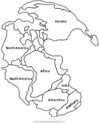 Cut out continents coloring page
