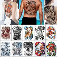 48 34 см мб большой большой полный назад для женщины мужчина временные татуировки