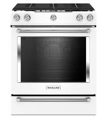 white electric range. A White Backless Oven? Love It!! 30-Inch 5-Burner Gas Slide-In Convection Range Electric E