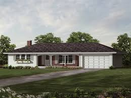 Elmsdale Ranch Home Plan D    House Plans and MoreSweeping Ranch Design With Hip Roof