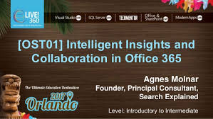 Office 365 Live Intelligent Insights And Collaboration In Office 365 Live 360