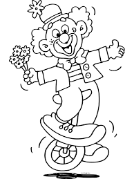 Clown Party Circus Coloring Pages