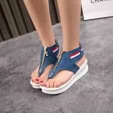 <b>MIUBU</b> 3cm platform open toes Flat Sandals <b>Women</b> New <b>Summer</b> ...