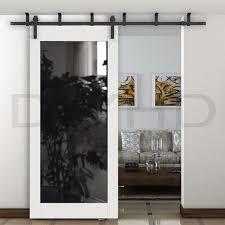 sliding barn doors. DIYHD 5ft-8ft Ceiling Mount Black Sliding Barn Door Hardware Rustic Bracket Doors I
