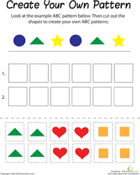 Abc Pattern Extraordinary ABC Pattern Worksheet Education