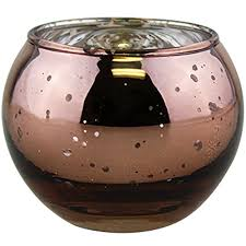 just artifacts round mercury glass votive candle holder 2 h speckled marsala set of