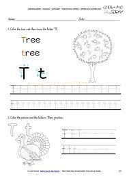 Letter T Worksheets Preschool Writing For Kindergarten Free ...