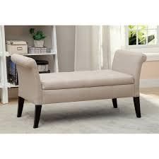 bedroom bench. belham living camille upholstered backless storage bench - neutral chevron | hayneedle bedroom
