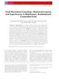 Fetal Kick Chart Pdf Pdf Fetal Movement Counting Maternal Concern And