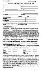 Landlord Apartment Lease Rental Agreement