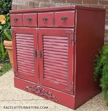 Barn Red Maple Cabinet Before & After Facelift Furniture
